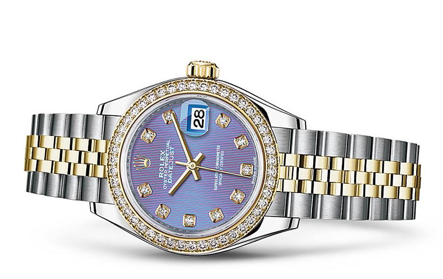 Rolex Datejust Ladies 279383-0015 Swiss Automatic Light Purple Dial 28MM