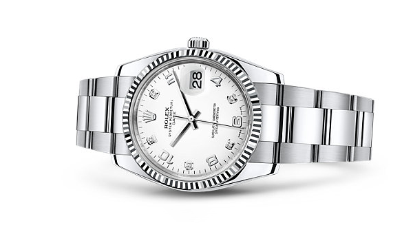 Rolex Oyster Perpetual Date Swiss Automatic Watch 34mm White Dial