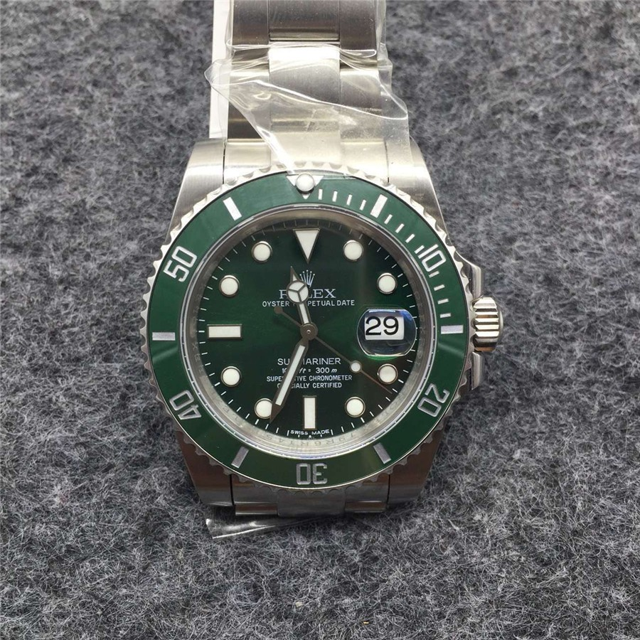 Rolex Submariner 116610 Automatic-Luminous Green Dial-Stainless Steal Strap