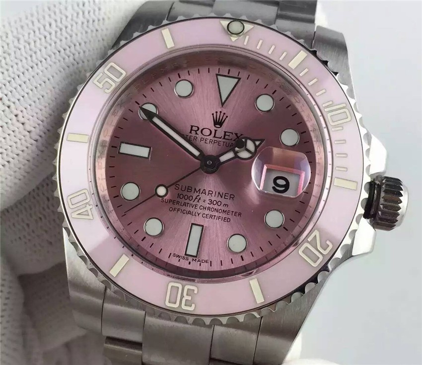 Rolex Submariner Ladies Watch Pink Dial
