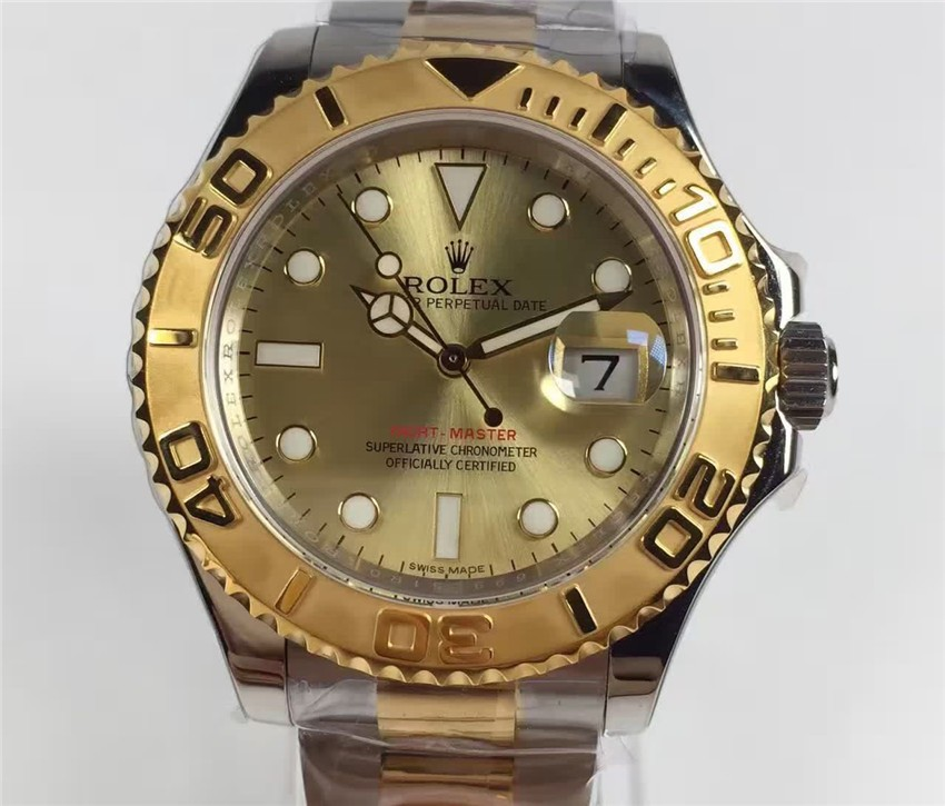 Rolex Yacht-Master 2016 Swiss Automatic Watch Gold Dial Two Toned