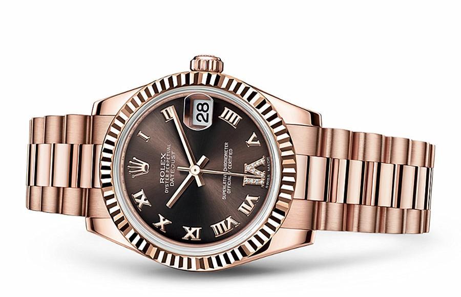 Rolex Datejust Ladies 178275F-0031 Swiss Automatic Brown Dial 31MM