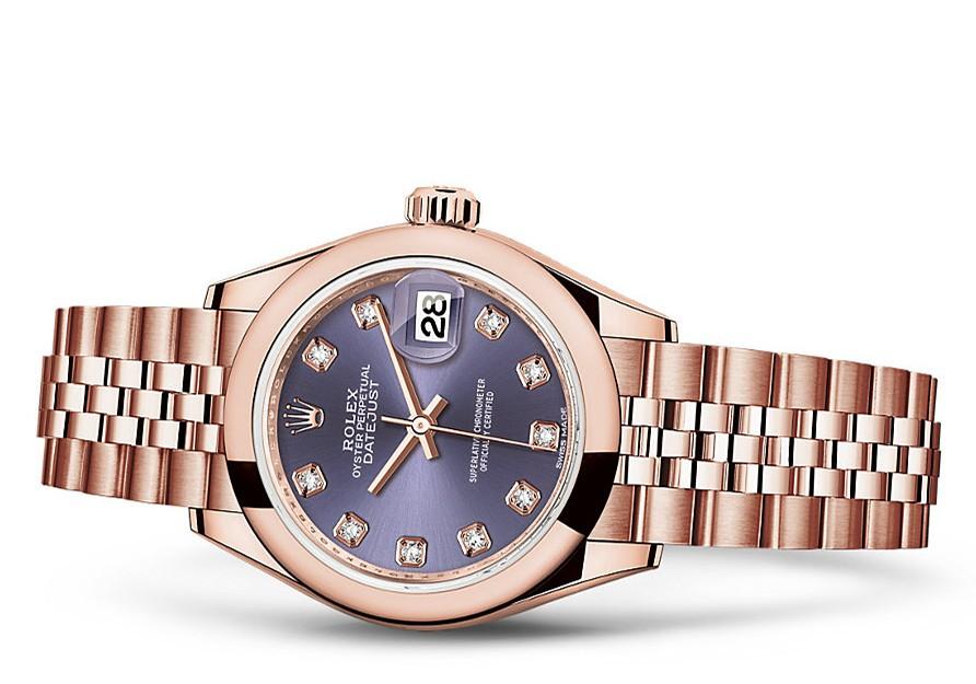 Rolex Datejust Ladies 279165-0020 Swiss Automatic Purple Dial 28MM