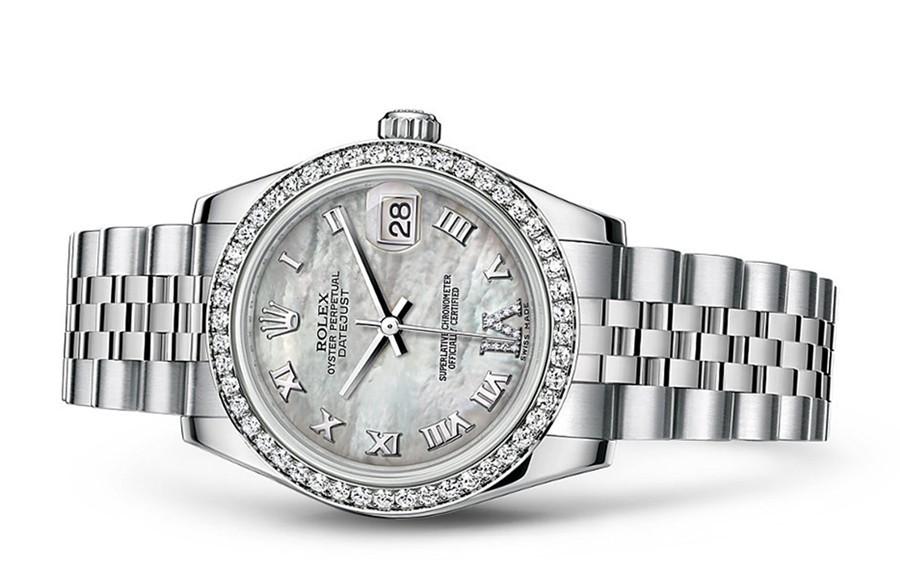 Rolex Datejust Ladies 178384-0040 Swiss Automatic MOP Dial 31MM