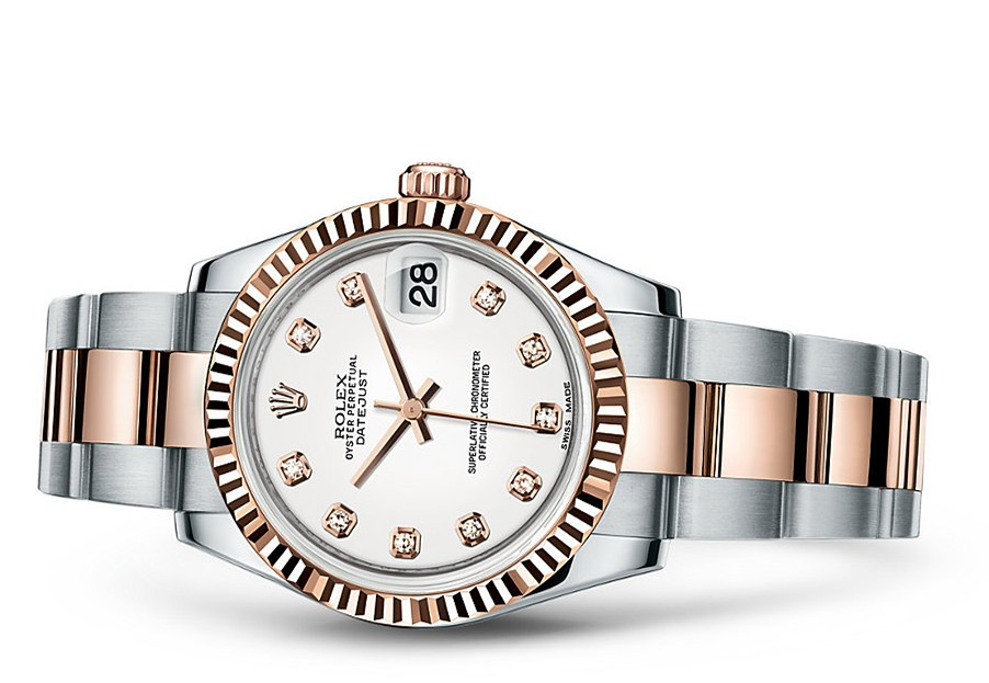 Rolex Datejust Ladies 178271-0039 Swiss Automatic White Dial 31MM
