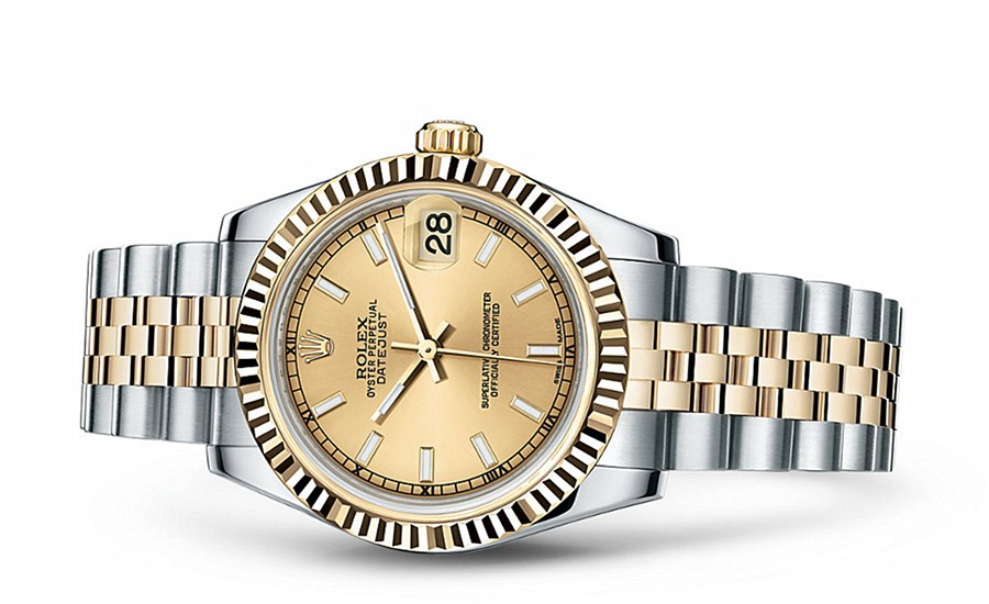 Rolex Datejust Ladies 178273-0001 Swiss Automatic Gold Dial 31MM
