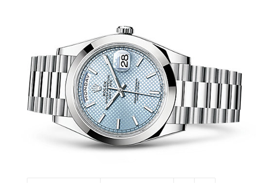 Ice blue dial